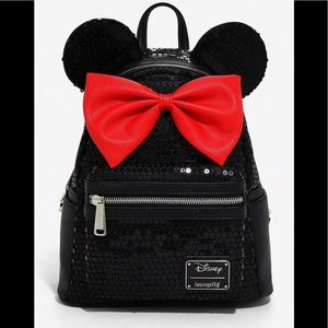 Sequined Disney Minnie Mini Backpack NEW